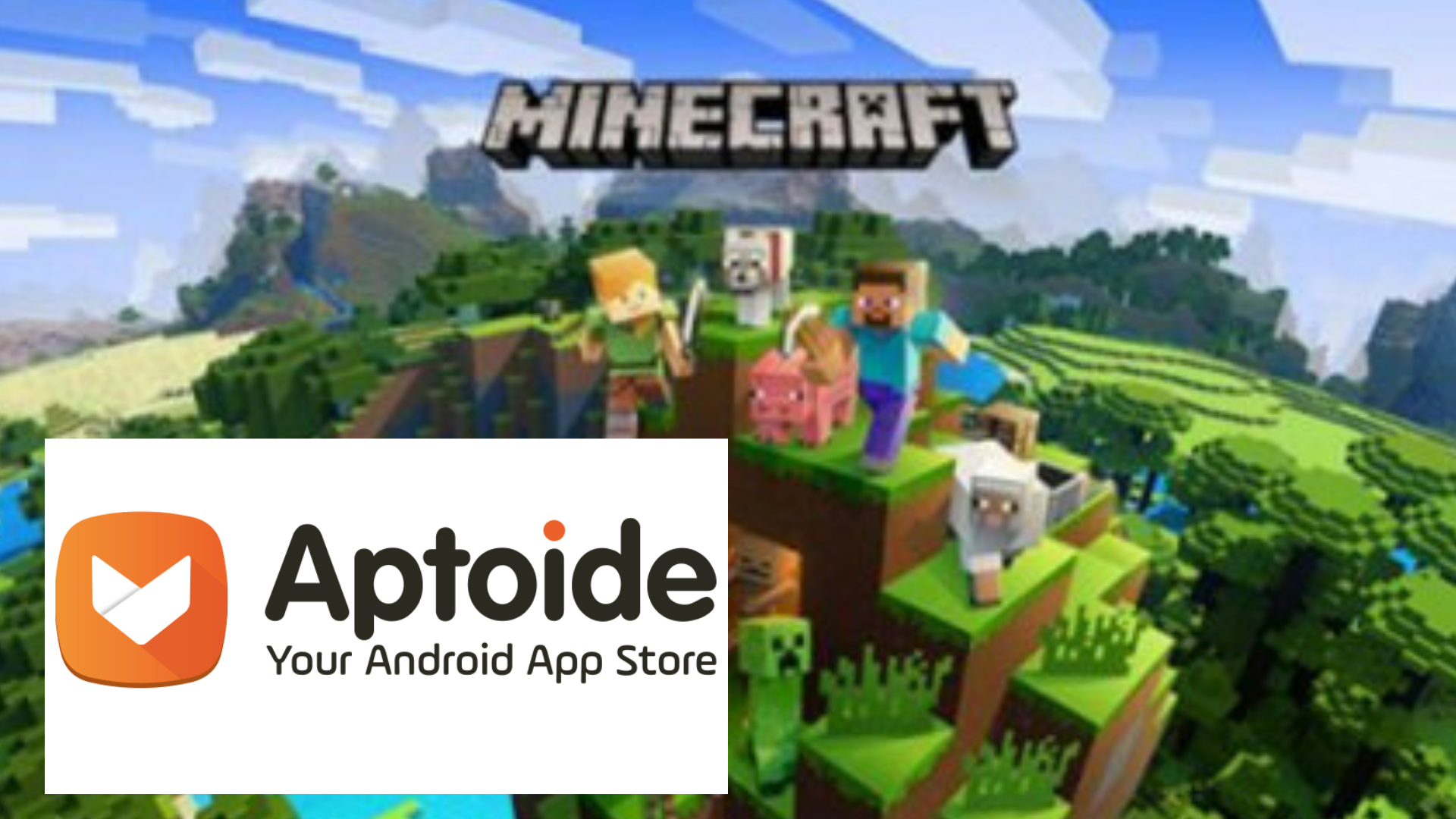 How to download Minecraft pocket edition using Aptoide - The
