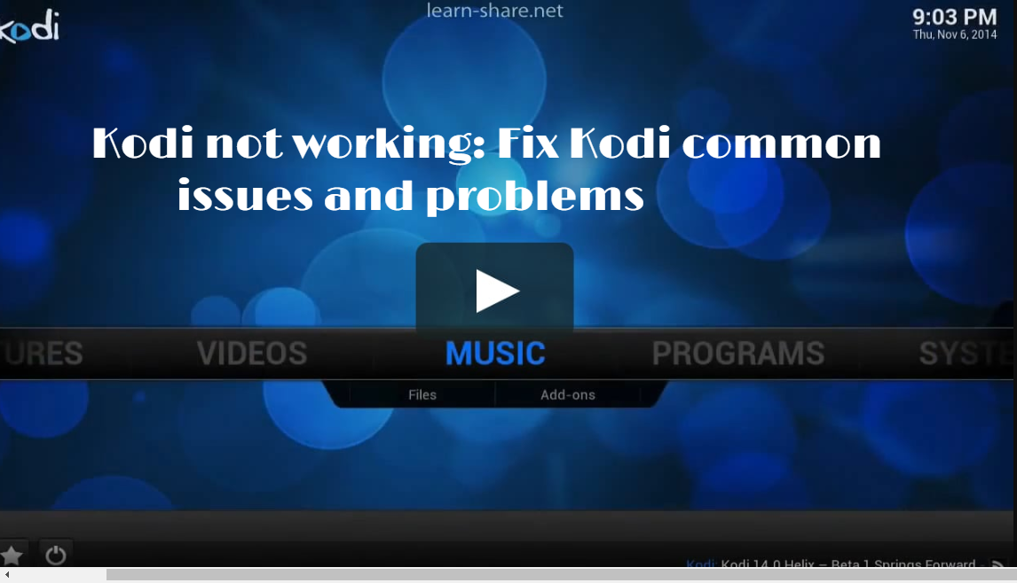 Fix Kodi common issues and problems