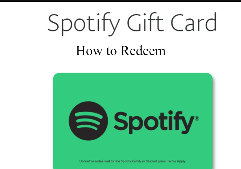 How to buy and redeem Spotify Gift cards