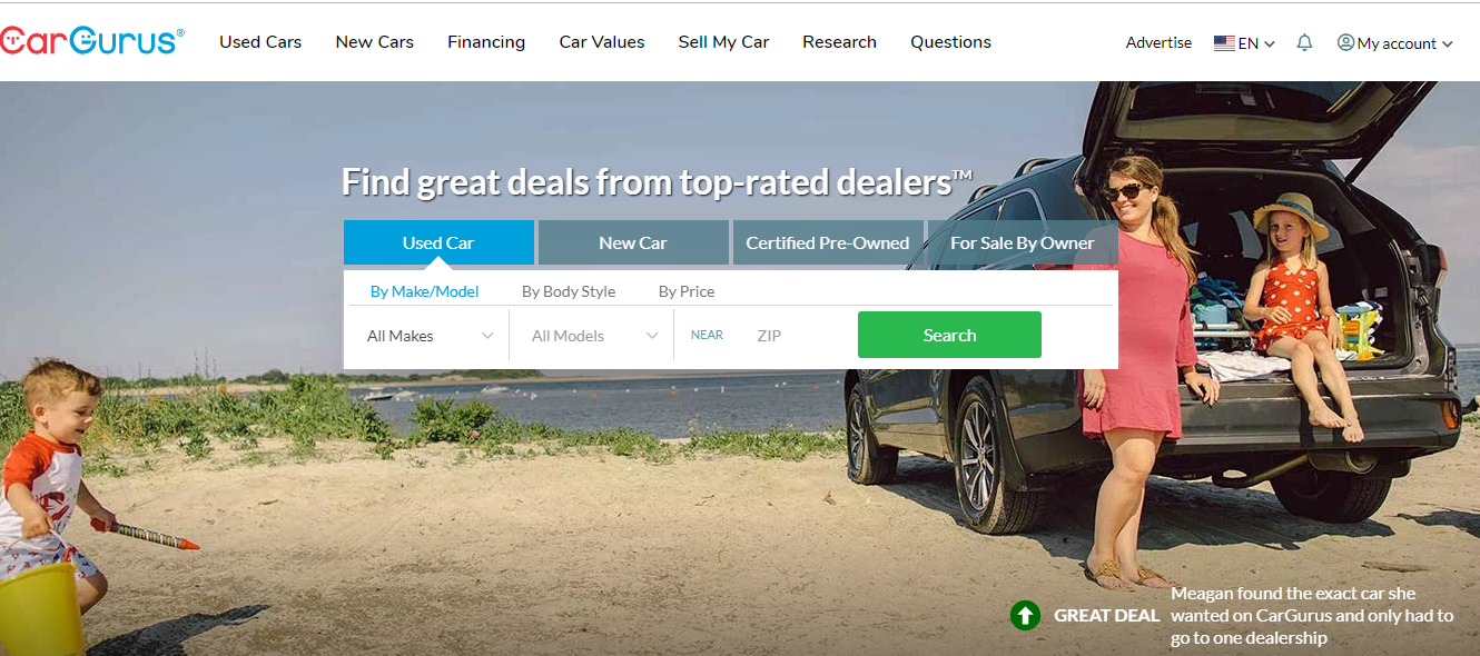 carGurus used cars
