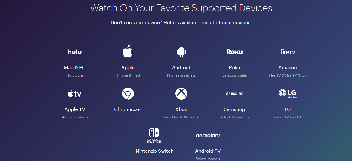Device support Netflix VS Hulu