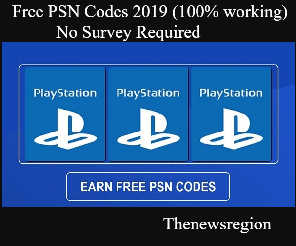 Free PSN Codes Aug 2019 (100% working) No Survey Required