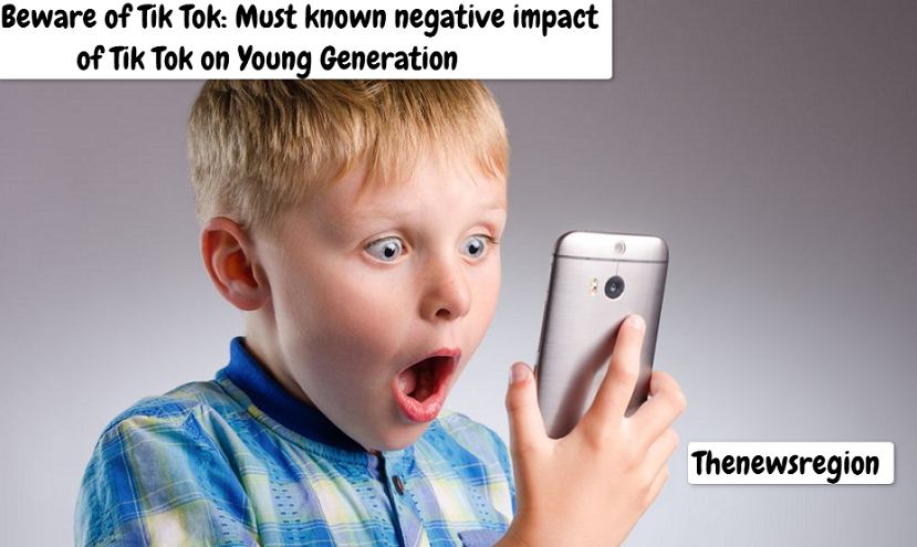 Negative impact of Tik Tok on kids and teens