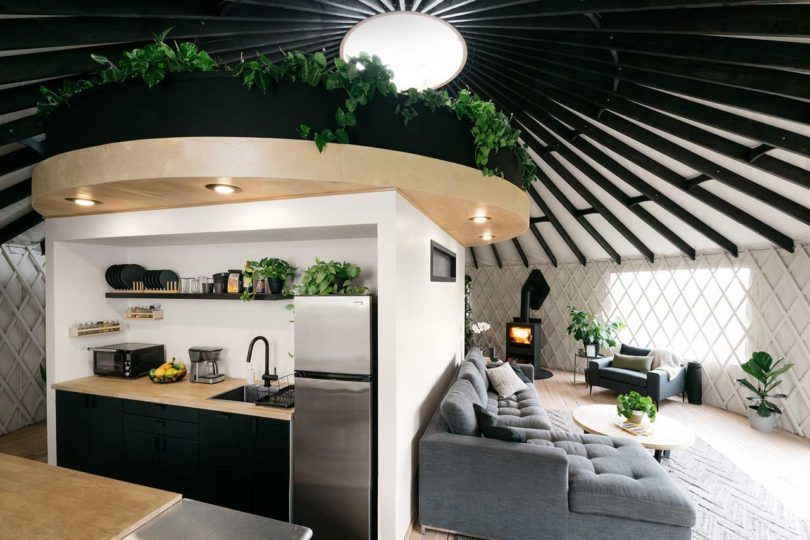 modern yurt of tiny house