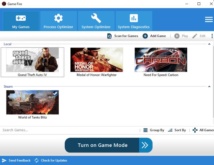 PC game optimization software