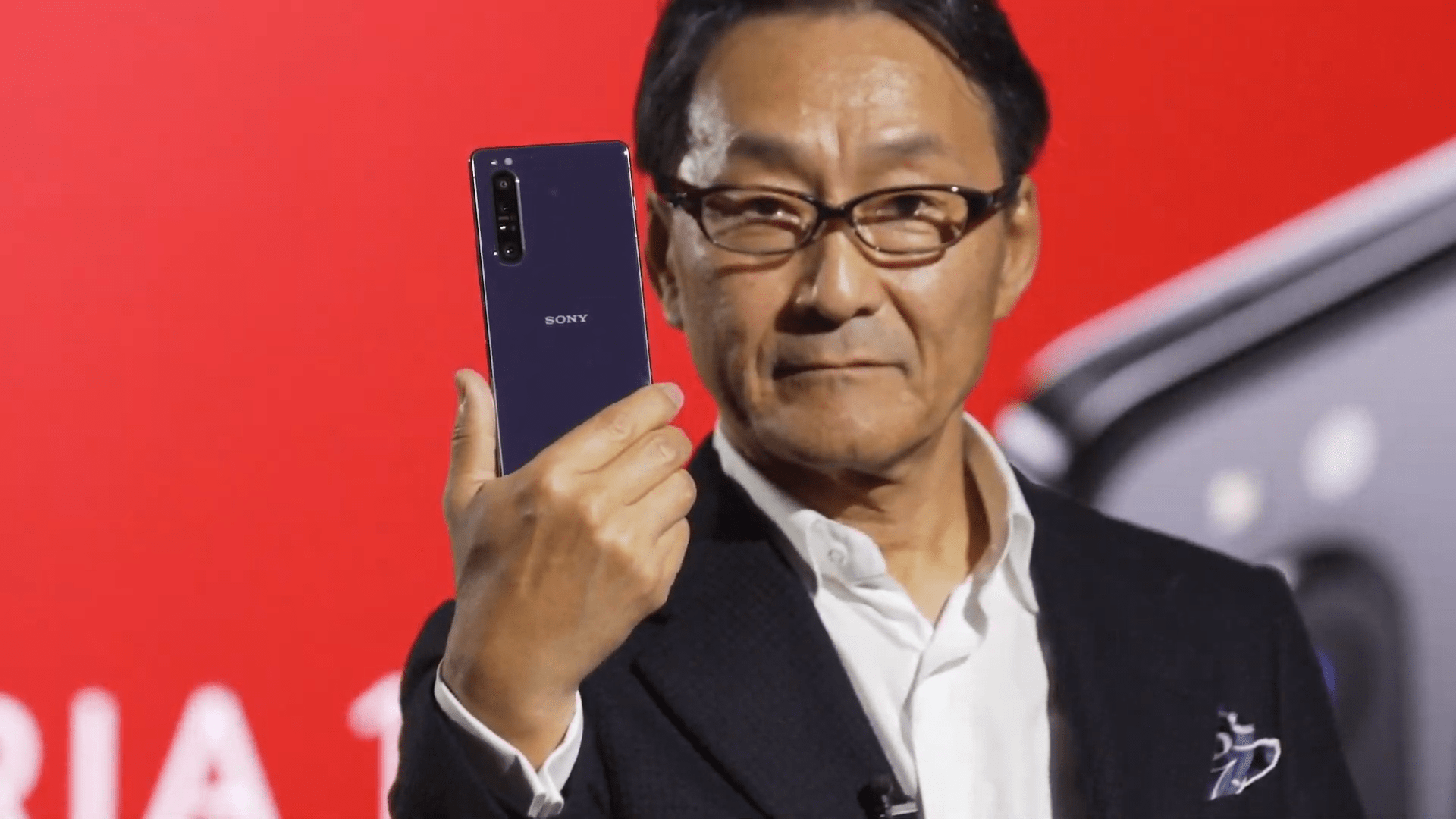 Presentation on the Sony Xperia 1 mark II at MWC 2020, is broadcast live